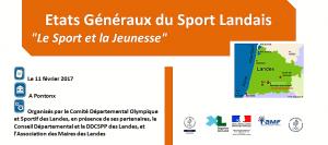 Etats Généraux du Sport landais 2017 – 2ème édition
